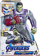 Большой интерактивный герой Марвел ХАЛК 35 см СУПЕР!!! Punch Hulk, Hasbro, фото 1