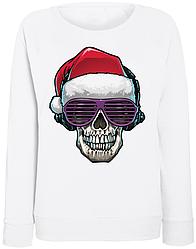 Женский свитшот Cool Santa (белый)