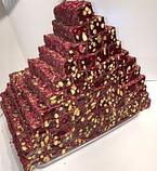 Рахат лукум натуральный  с фисташковым орехом  премиум GANIK 500 гр , ассорти ( роза, гранат, абрикос, киви),, фото 3