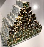 Рахат лукум натуральный  с фисташковым орехом  премиум GANIK 500 гр , ассорти ( роза, гранат, абрикос, киви),, фото 4