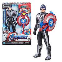 Интерактивная фигурка Капитан Америка 29 см.Titan Hero Power Fx Captain America, Hasbro Оригинал из США, фото 1