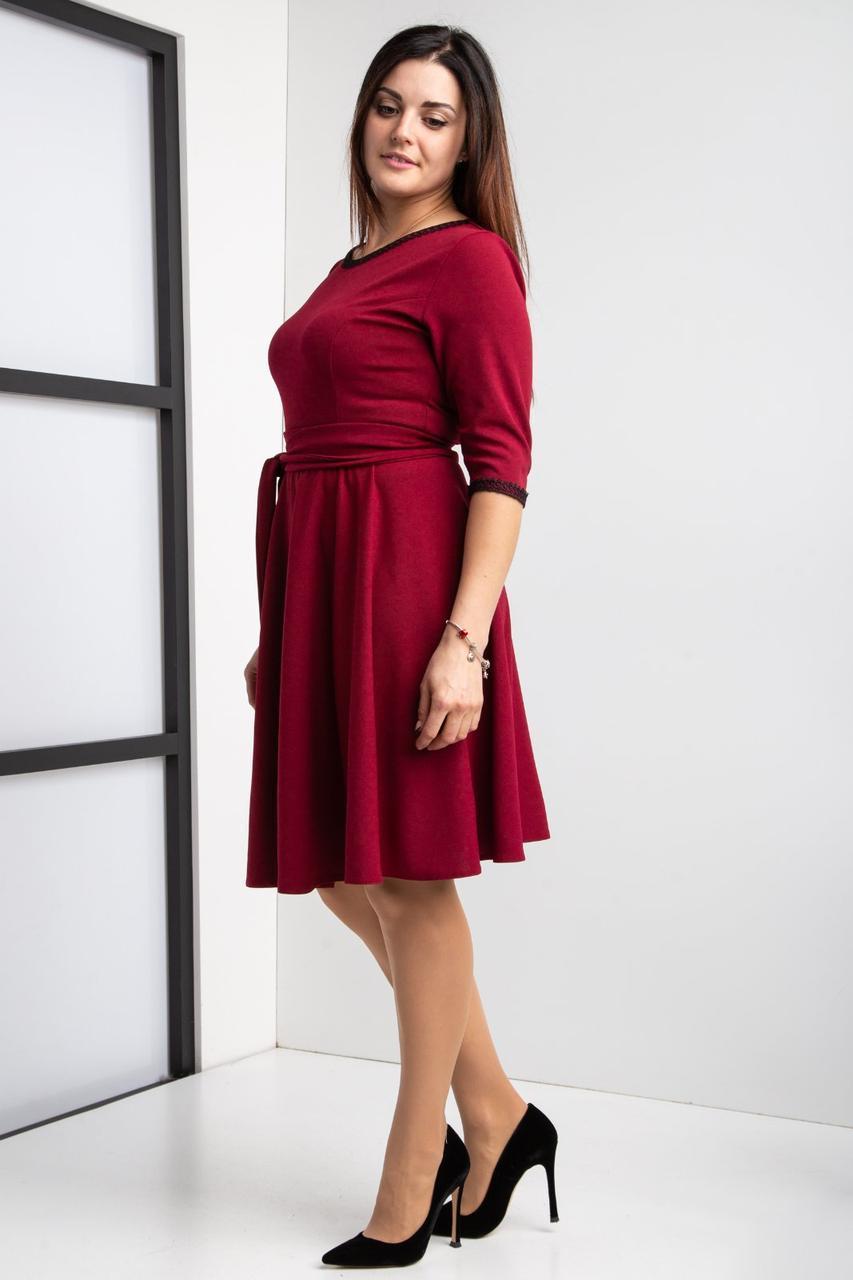 Стильное клешное платье разм 44-58