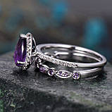 """Кольца с камнями """"Gloss"""", набор 2 шт, фото 6"""