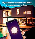 Умная Smart LED лампа NOUS P3 Bulb 9W E27 2700-6000K+RGB Wi-Fi, фото 5
