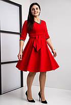 Стильное клешное платье с Vобразным вцрезом, разм 44-58, фото 2