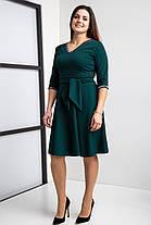 Стильное клешное платье с Vобразным вцрезом, разм 44-58, фото 3