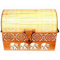 """Сундук из массива дерева """"Слоны"""" (60х40х45 см)D ( 32900D)"""