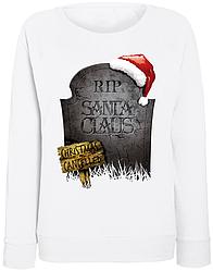 Женский свитшот RIP Santa Claus Christmas Cancelled (белый)