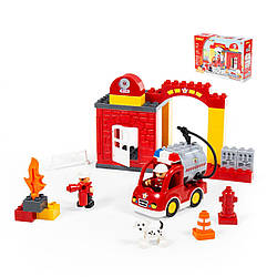 Конструктор Макси Пожарная станция, Polesie 35 элементов, 77523