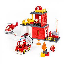 Конструктор Макси Пожарная станция, Polesie 64 элемента, 77516