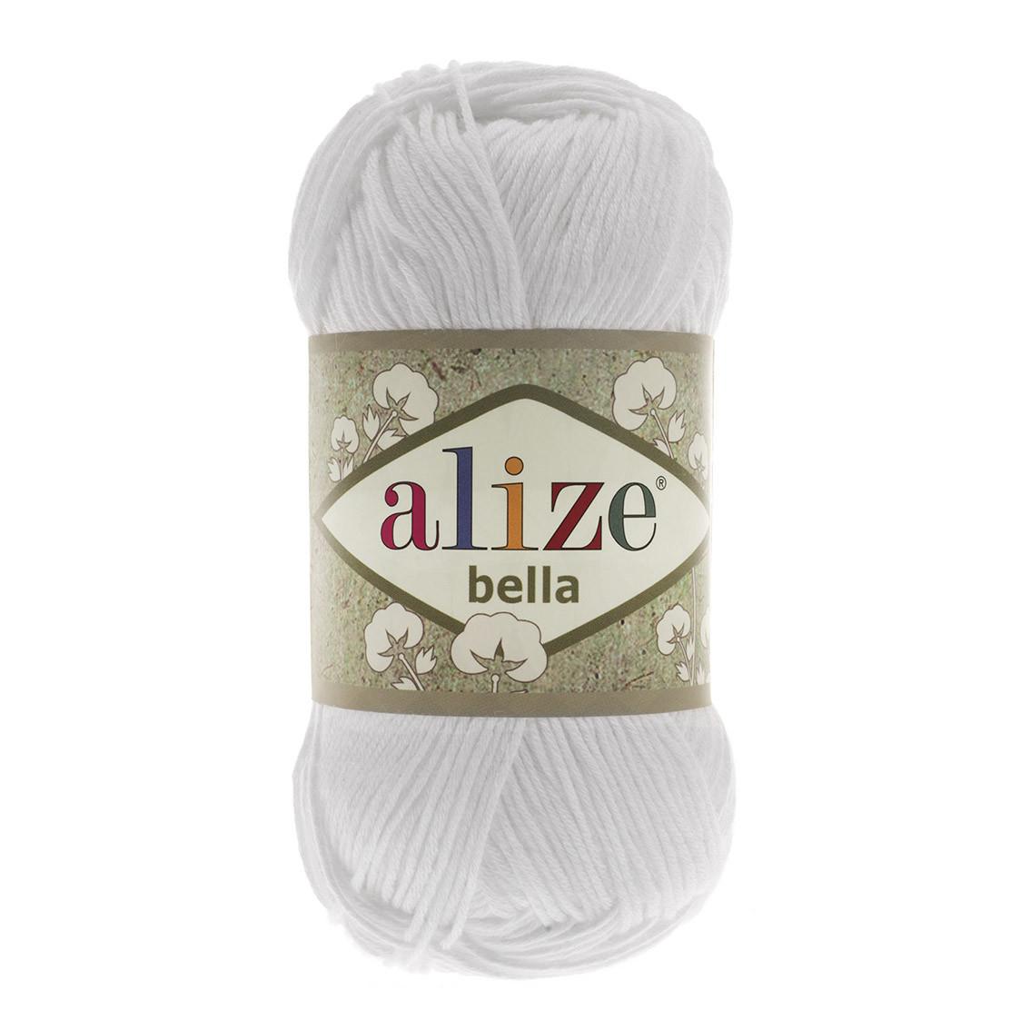 Пряжа Ализе Белла Alize Bella, цвет №55 белый