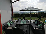 Набор садовой мебели Keter Corfu Fiesta Max Set Graphite ( графит ) из искусственного ротанга ( Keter ), фото 2