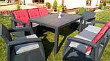 Набор садовой мебели Keter Corfu Fiesta Max Set Graphite ( графит ) из искусственного ротанга ( Keter ), фото 3