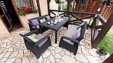 Набор садовой мебели Keter Corfu Fiesta Max Set Graphite ( графит ) из искусственного ротанга ( Keter ), фото 5