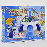 """Игровой набор """"Доктор"""" 312-1 голубой 26 предметов, с пупсиком, в коробке"""
