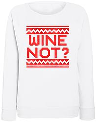 Женский свитшот Wine Not? (белый)