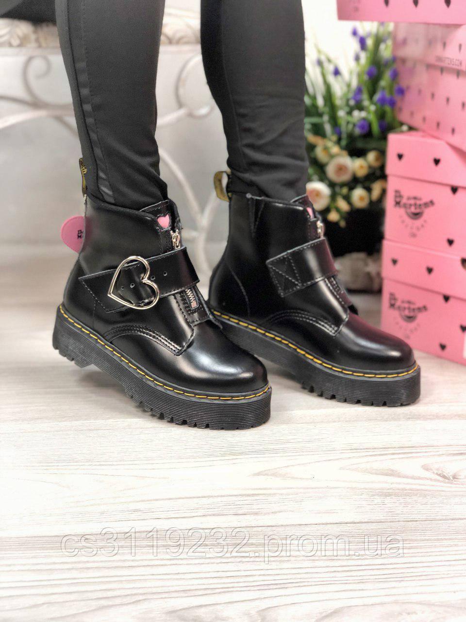 Женские ботинки осенне-зимние Dr.Martens Chelsea (термоподкладка) (черный)