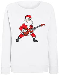 Женский свитшот Rockin' Santa (белый)