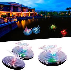 Плавающий светильник для пруда на солнечной батареи