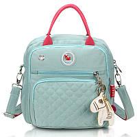 Небольшой рюкзак для мам Lagaffe GG8085 из эко ткани с водоотталкивающими свойствами, с 8 карманами, 7л