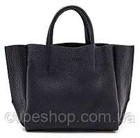 Женская кожаная сумка Poolparty Soho (черная)