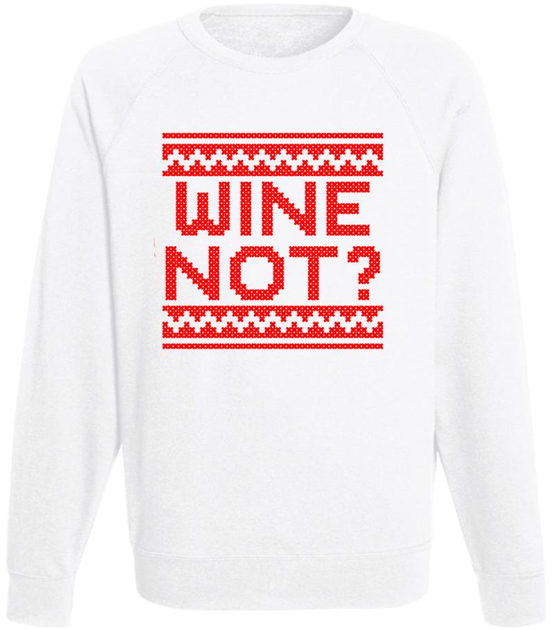 Мужской свитшот Wine Not? (белый)