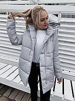 Непродуваемая зимняя куртка на синтепоне арт 505