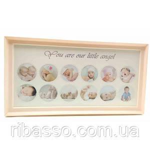 """Фоторамка """"Для новорожденных"""" для девочек (39х20х2 см) ( 32770A)"""