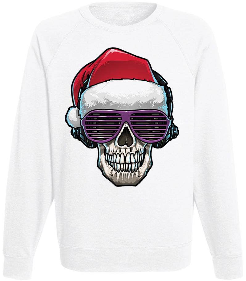 Мужской свитшот Cool Santa (белый)
