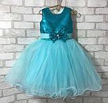 Детские нарядные платья с пайетками на рост 92-110, фото 6
