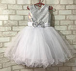 Детские нарядные платья с пайетками на рост 92-110, фото 4