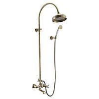 CUTHNA antiqua система душевая (двухвентильный смеситель для ванны, верхний и ручной душ), бронза