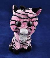 Мягкие игрушки Глазастый Зоопарк Зебра (14 см) №96025