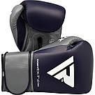 Боксерские перчатки RDX Leather Pro C4 Blue 14 ун., фото 2