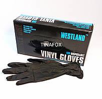 Рукавички для майстра манікюру нітрилові чорні, розмір S