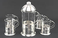 1030 Заварник - Пресс 600 мл + 4 стакана