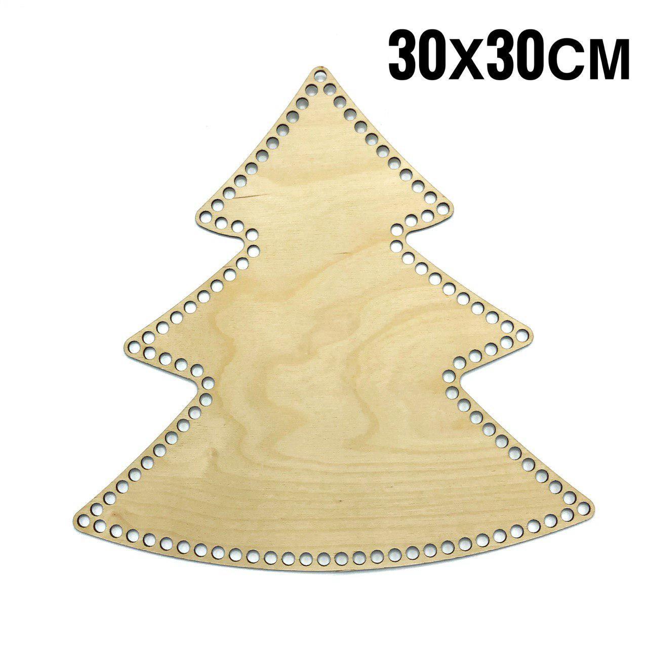 Дерев'яне Дно Ялинка для плетеної корзини гладке 30 см