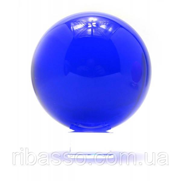 Шар хрустальный на подставке синий (d-11 см) ( 28727)