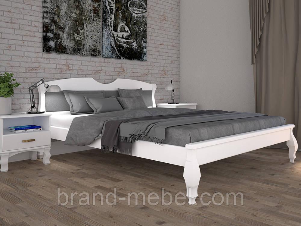 Дерев'яне ліжко двоспальне Корона 3 / Деревянная кровать двуспальная Корона 3