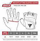 Перчатки для фитнеса RDX S2 Leather Black M, фото 9