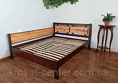 """Двоспальне ліжко з дерева з висувними ящиками """"Магія Дерева Преміум"""", фото 2"""