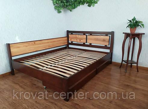 """Двуспальная кровать из дерева с выдвижными ящиками """"Магия Дерева Премиум"""", фото 2"""