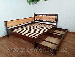 """Двуспальная кровать из дерева с выдвижными ящиками """"Магия Дерева Премиум"""", фото 3"""