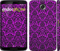 """Чехол на Motorola Nexus 6 фиолетовый узор барокко """"1615c-67"""""""