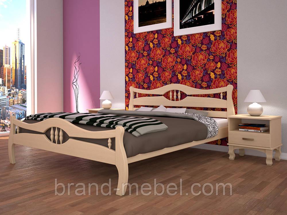 Дерев'яне ліжко двоспальне Корона 2 / Деревянная кровать двуспальная Корона 2