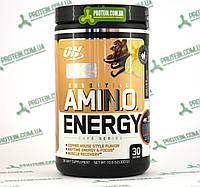Аминокислоты ON Optimum Nutrition Essential Amino Energy 30 порций 270 г Iced Cafe Vanilla Кофе Ваниль