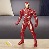 Интерактивная фигурка железного человека 30 см, свет, звук, стреляет, HASBRO! Оригинал из США, фото 6