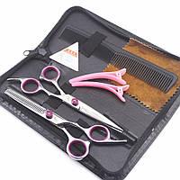 Парикмахерские ножницы для стрижки волос. Парикмахерский набор ножниц 6 дюймов прямые и филировочные ножницы
