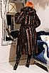Шикарная искусственная шуба с капюшоном и поясом. Размеры 44-58. Реальные фото. Очень теплая. Наложка., фото 3