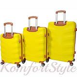 Набор дорожных чемоданов Bonro Next 3 штуки желтый (10642307), фото 2